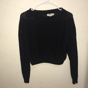 cropped black sweater
